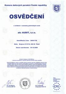 certifikáty, osvědčení